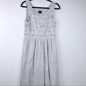 4 For $25💸 Anthro Deletta metallic ruffle dress